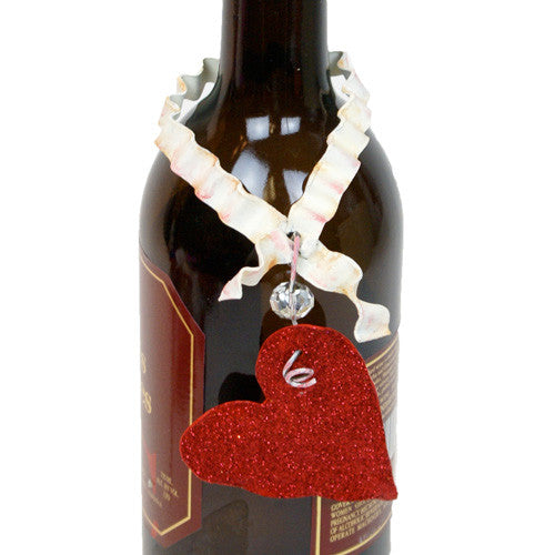 Valentine Red Heart Bottle Charm The Round Top Collection V8038 - FancySchmancyDecor