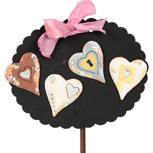 Vintage Heart Magnets by The Round Top Collection V8046 - FancySchmancyDecor