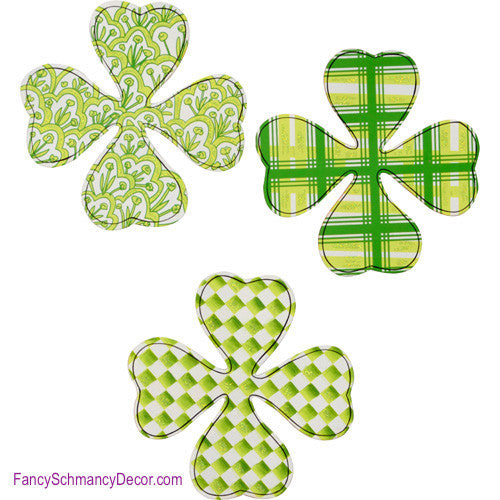 Four Leaf Clover Magnets - Asst. 3 The Round Top Collection V8100 - FancySchmancyDecor