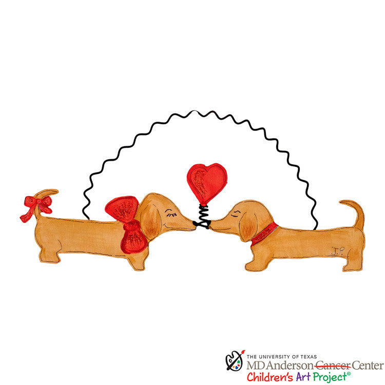 Valentine MD Anderson J.P.'s Kissing Pups The Round Top Collection V9003 - FancySchmancyDecor