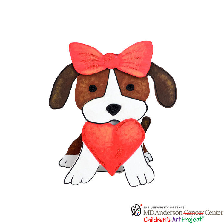 Valentine MD Anderson Allison's Pup with Heart by The Round Top Collection V9006 - FancySchmancyDecor