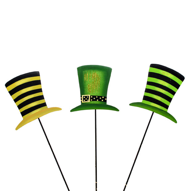 Leprechaun Hat Trio - Assorted Set of  3 The Round Top Collection V9024 - FancySchmancyDecor