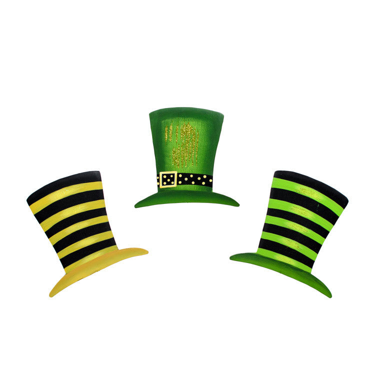 St. Patrick's Day Leprechaun Hat Magnets - Asst. 3 The Round Top Collection V9025 - FancySchmancyDecor