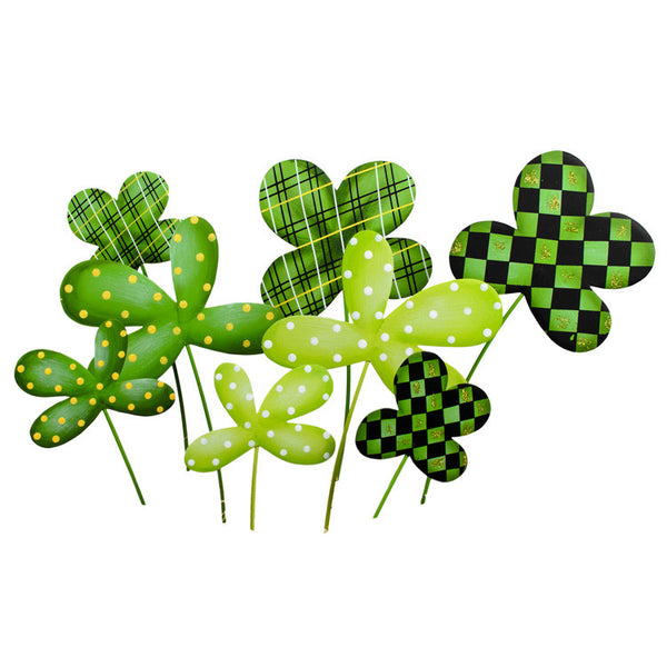 Lucky 4 Leaf Clovers - Assorted 8 The Round Top Collection V9032 - FancySchmancyDecor