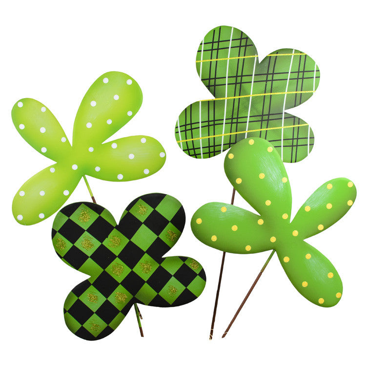 Lucky 4 Leaf Clovers Medium - The Round Top Collection V9033 - FancySchmancyDecor