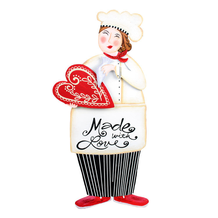 Valentine Made With Love Chef The Round Top Collection V9039 - FancySchmancyDecor