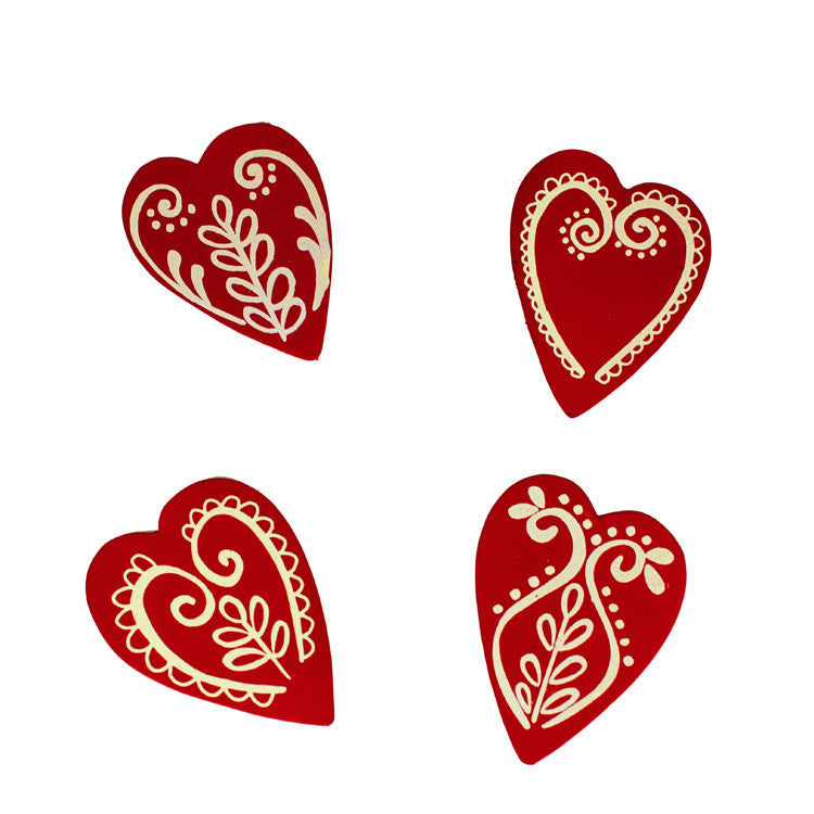 Valentine Made With Love Cookie Magnets Asst. Set of 4 The Round Top Collection V9041 - FancySchmancyDecor