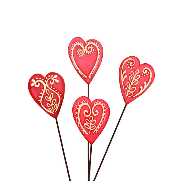 Valentine Made with Love Cookies - Assorted Set of 4 The Round Top Collection V9042 - FancySchmancyDecor