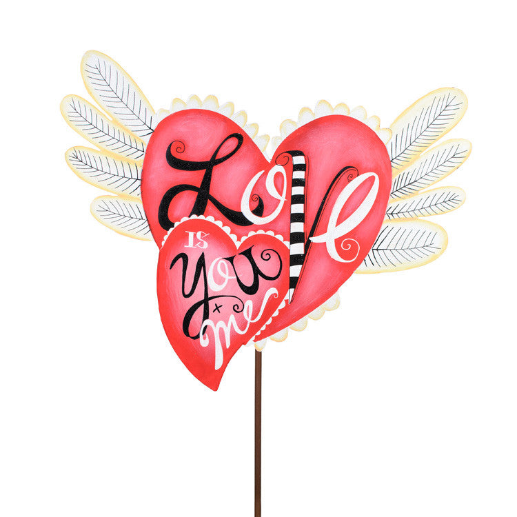 Valentine Love Heart with Wings - Large by The Round Top Collection V9050 - FancySchmancyDecor