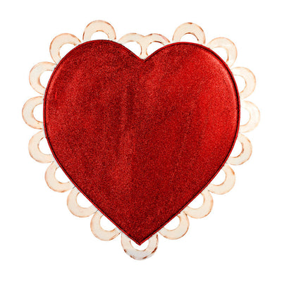 Valentine Heart With Eyelet The Round Top Collection V9053 - FancySchmancyDecor