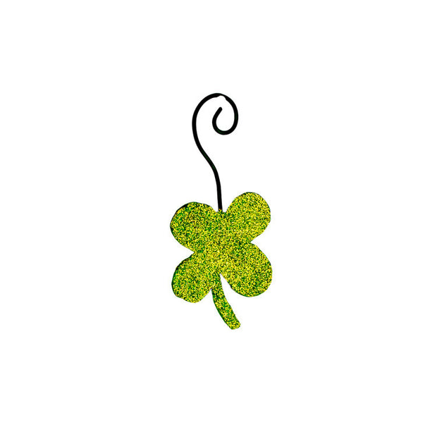 St. Patrick's Day Glitter Shamrock Ornament - The Round Top Collection V9068 - FancySchmancyDecor