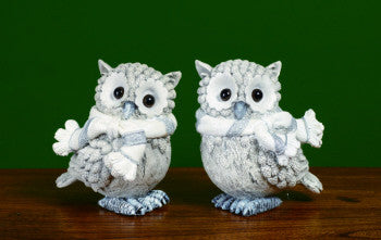 Owl Winter Figurine - FancySchmancyDecor