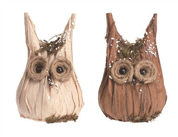 Holiday - Wood Horned Owls - FancySchmancyDecor