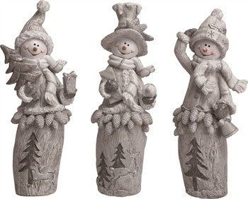 Winter Snowman Figurines - FancySchmancyDecor