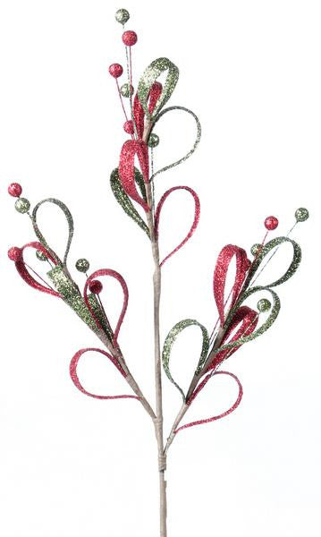 Holiday - Glitter Leaf Spray - FancySchmancyDecor