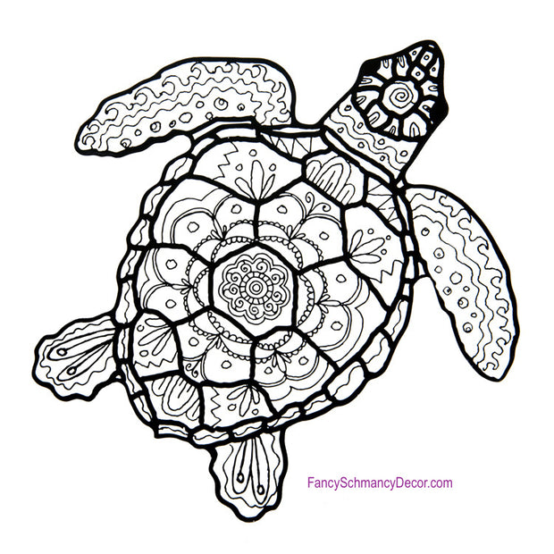 Color My Coastal Turtle Stake by The Round Top Collection Y17118