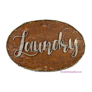 Galvanized and Rust Laundry Sign by The Round Top Collection Y17137