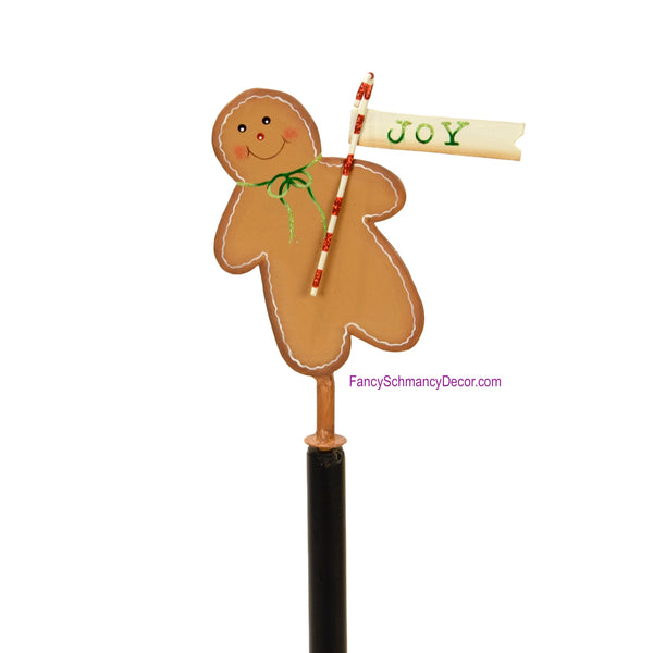 Gingerbread Man Finial by The Round Top Collection Y17171