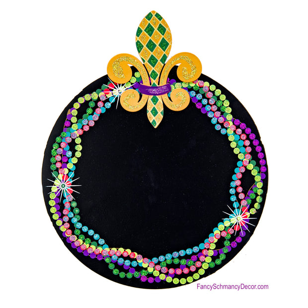 Mardi Gras Chalkboard by The Round Top Collection Y18060