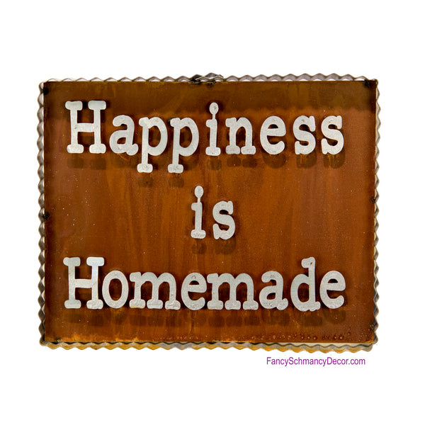 "Galvanized and Rust ""Happiness Is Homeade"" Sign by The Round Top Collection Y18080"