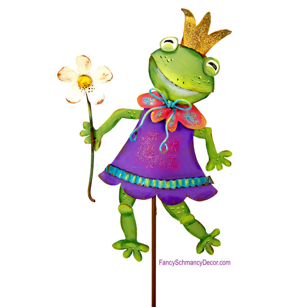 Fairytale Frog Princess Stake by The Round Top Collection Y18129