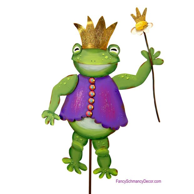 Fairytale Frog Prince Stake by The Round Top Collection Y18130