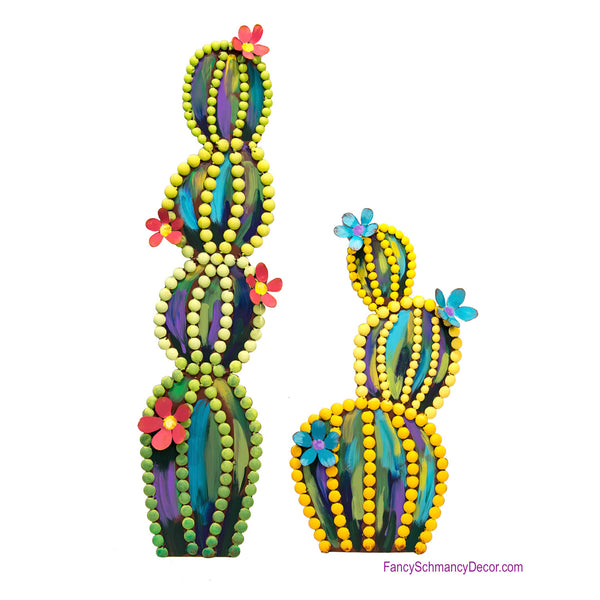 Fairy Tale Cactus Tall Assorted 2 Stakes by The Round Top Collection Y18131