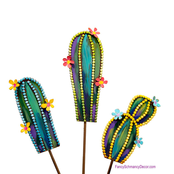 Fairy Tale Cactus Mini Assorted 3 Stakes by The Round Top Collection Y18133