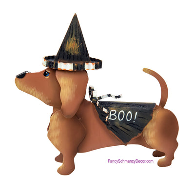 Dress-up Dachshund Witch by The Round Top Collection Y18347