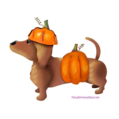 Dress-up Dachshund Pumpkin by The Round Top Collection