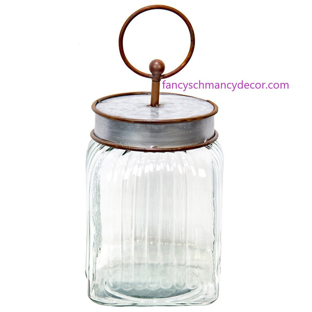 Natural Ridged Jar by The Round Top Collection
