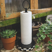 Checked Paper Towel Holder by The Round Top Collection