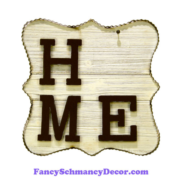 """Home"" Metal/Wood Sign by The Round Top Collection Y19160"