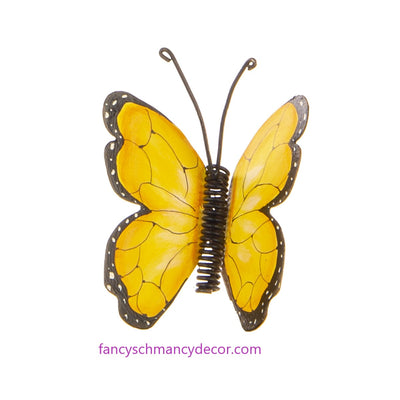 Yellow Butterfly Finial by The Round Top Collection