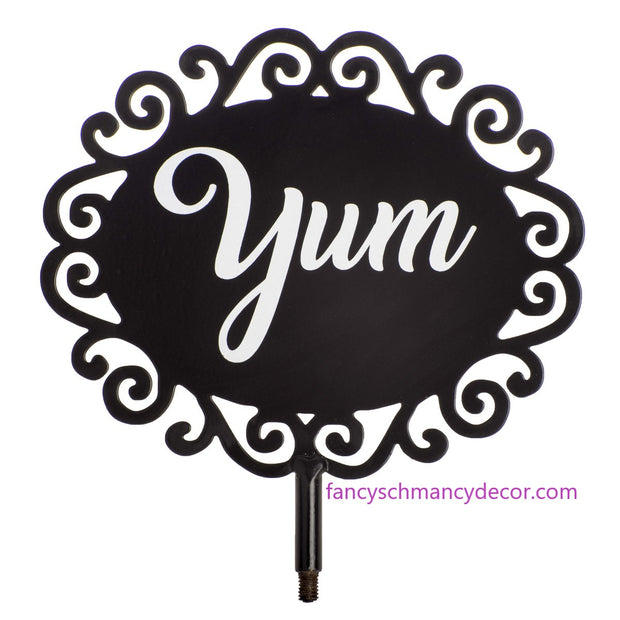 """Yum"" Finial by The Round Top Collection"