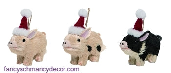 Sisal Pig Ornaments