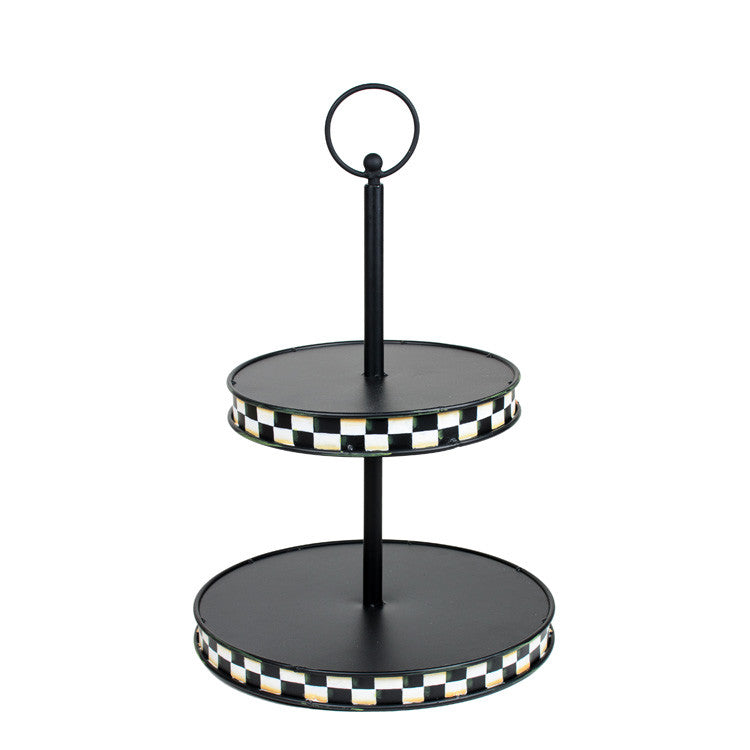 Two Tier Serving Tray by The Round Top Collection Y9020 - FancySchmancyDecor - 1