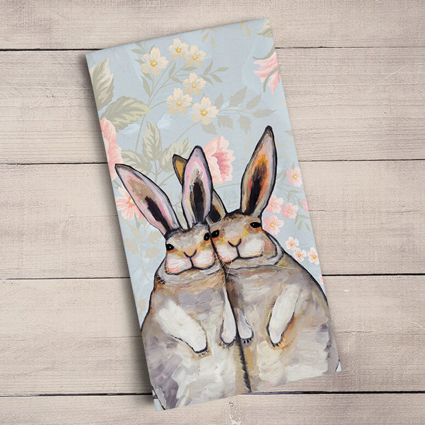 Bunny Friends - Floral Tea Towels