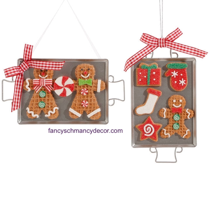 Cookie Sheet Gingerbread Ornament by Raz Imports