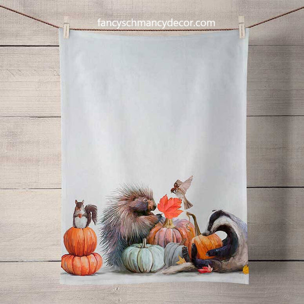 Fall - Pumpkin Pals Tea Towel