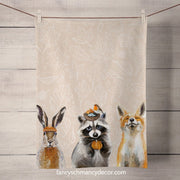 Fall - Thankful Raccoon Tea Towel