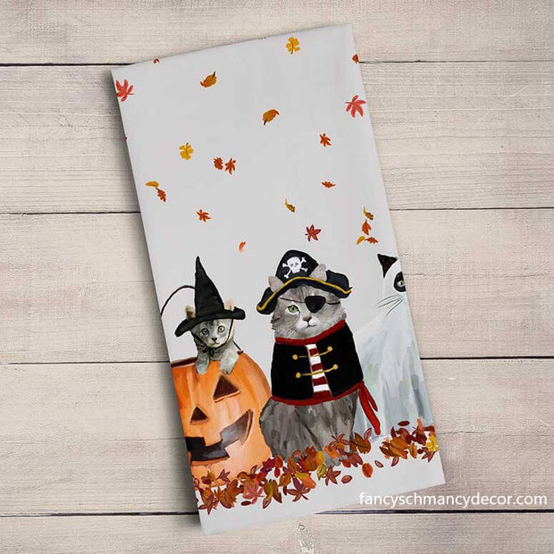 Halloween Cats Tea Towel