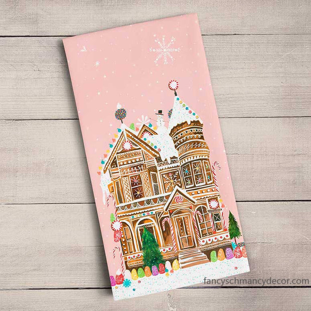 Holiday - Gingerbread House Tea Towel
