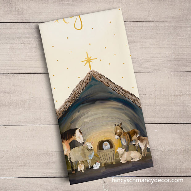 Holiday - Nativity Manger Tea Towel