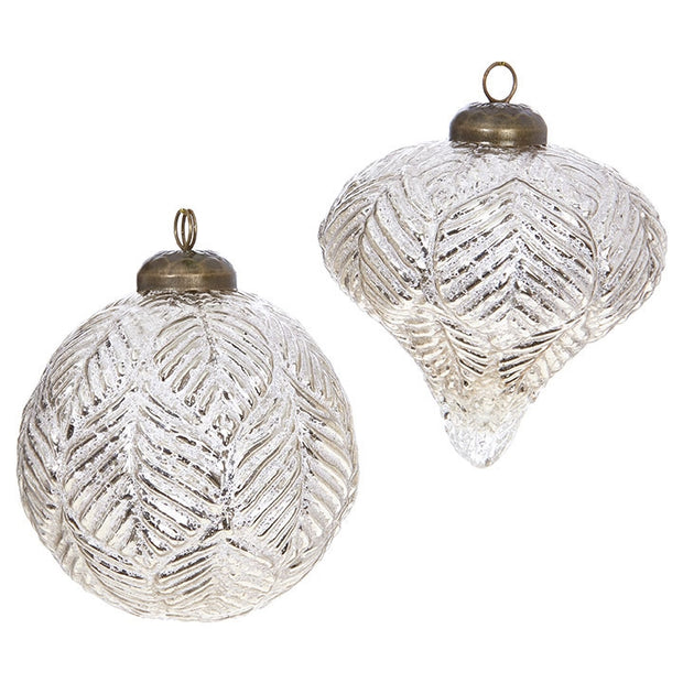 Leaf Pattern Ornament by Raz Imports