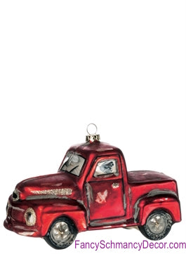 Red Pickup Truck Ornament by Sullivans Gifts