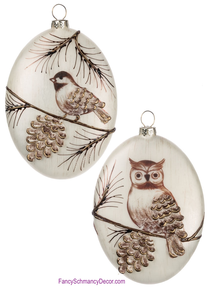 Owl or Bird Ornament by Sullivans Gifts