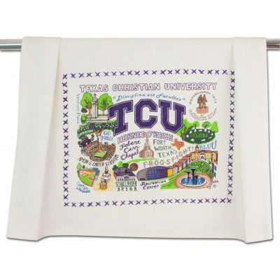 TCU Collegiate Dish Towel by Cat Studio