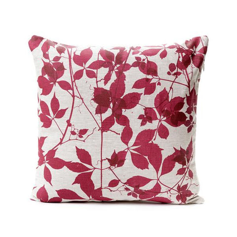 Silver Veined Creeper <br> Cushion Cover <br> $75.00