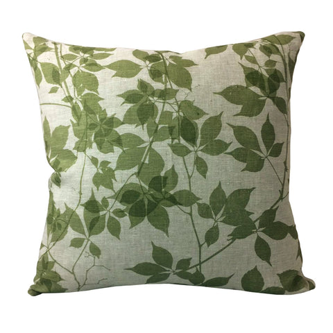Silver Veined Creeper <br> Cushion Cover